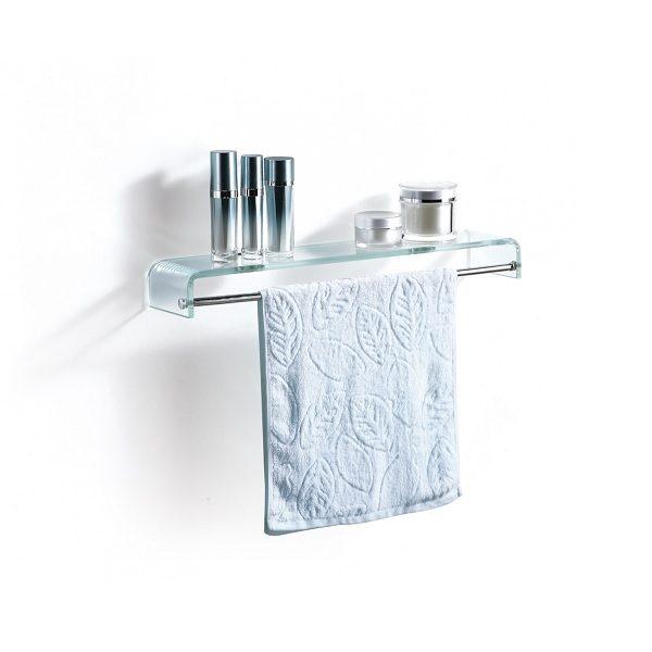 Demerx Barr - Glashylla med handduksstång