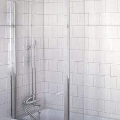 Nordhem badkarsvägg Tjörn krom klart 800+150/1405mm