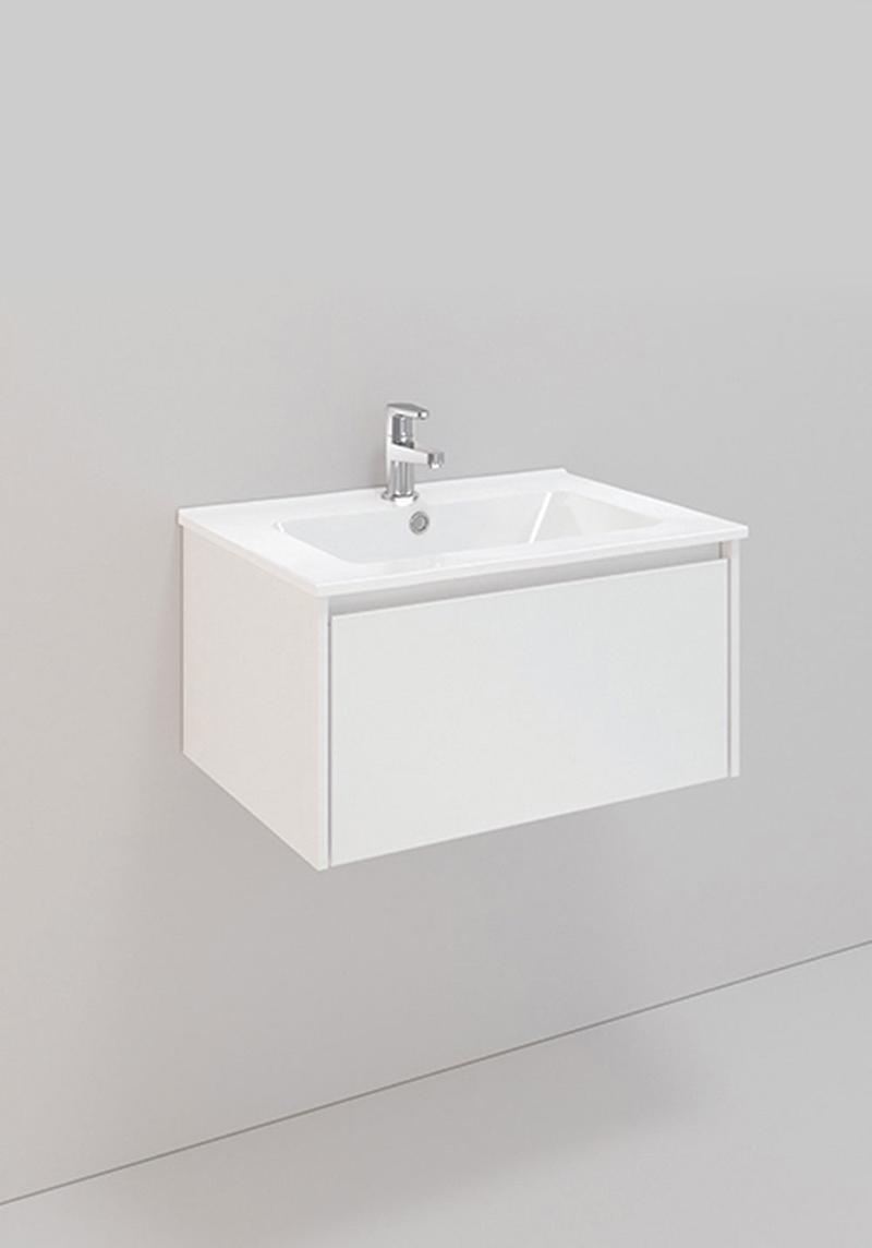 Noro Tvättställsskåp Lifestyle Concept 600 Vit Matt 1 Låda