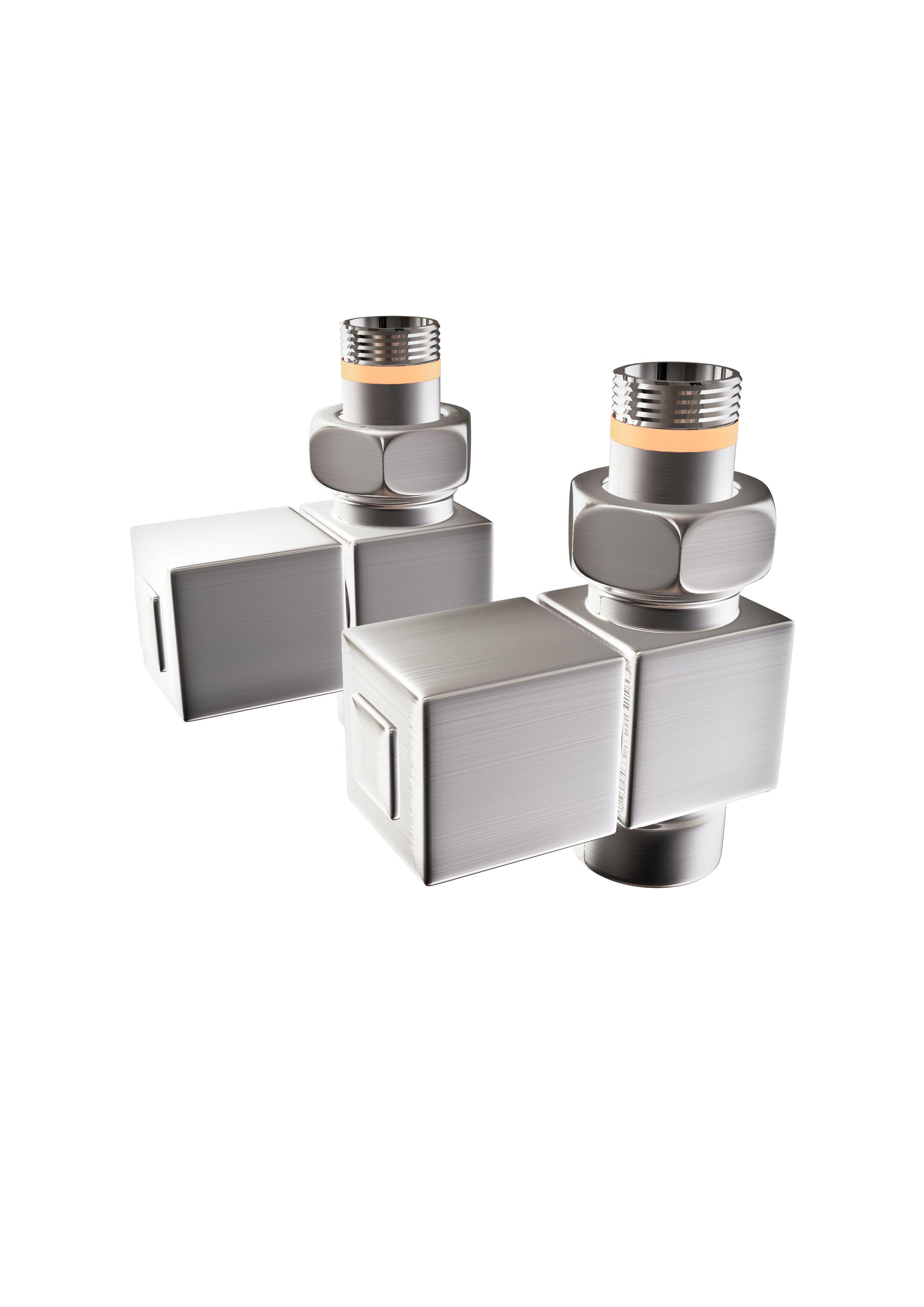 Nordhem ventil-set vinkel fyrkant krom, rg½ inv /alla modeller