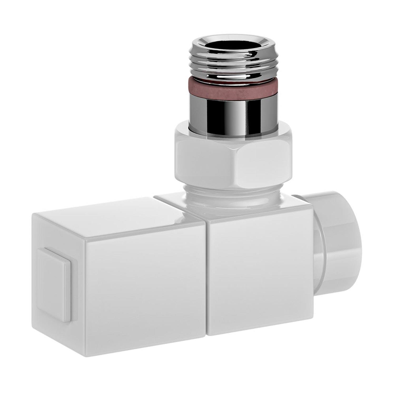Nordhem ventil-set vinkel fyrkant vit g15 inv