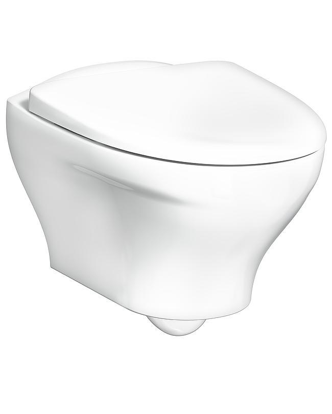 Gustavsberg Vägghängd toalett Estetic 8330 - Hygienic Flush, vit med hårdsits och soft close