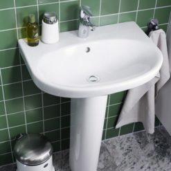 Gustavsberg Tvättställ Nautic 5560 - för bult/konsolmontage 60 cm