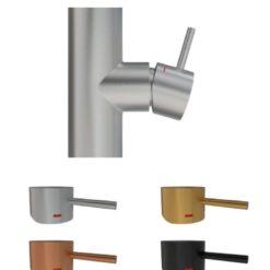 Primy Steel Handtag till blandare Short bar Amber 5mm