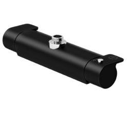 Gustavsberg Duschblandare Estetic - termostat Matt svart med duschanslutning uppåt, 160 c-c