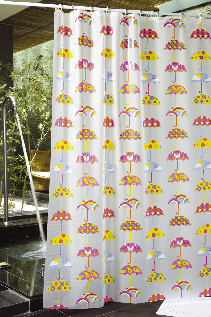 Demerx Duschdraperi Umbrellas Transparent