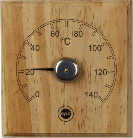 Demerx Bastutermometer Fyrkantig Trä
