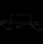FM Mattsson självdränerande vattenutkastare med nyckel 400mm