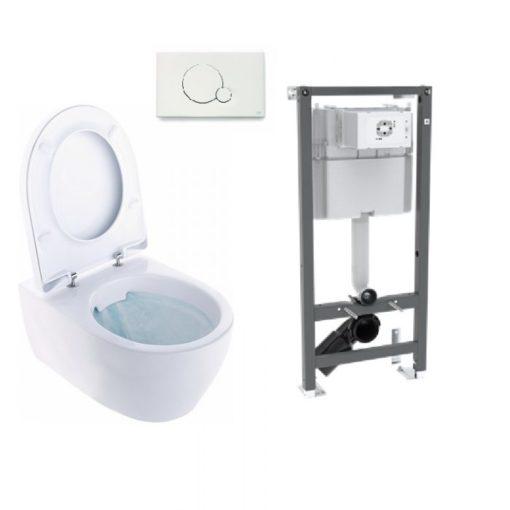 Ifö iCon 3575 Vägghängd WC Rimfree Komplett paket