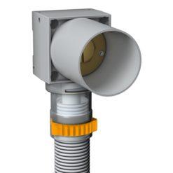 Lk Väggdosa Push Uni X16 V2