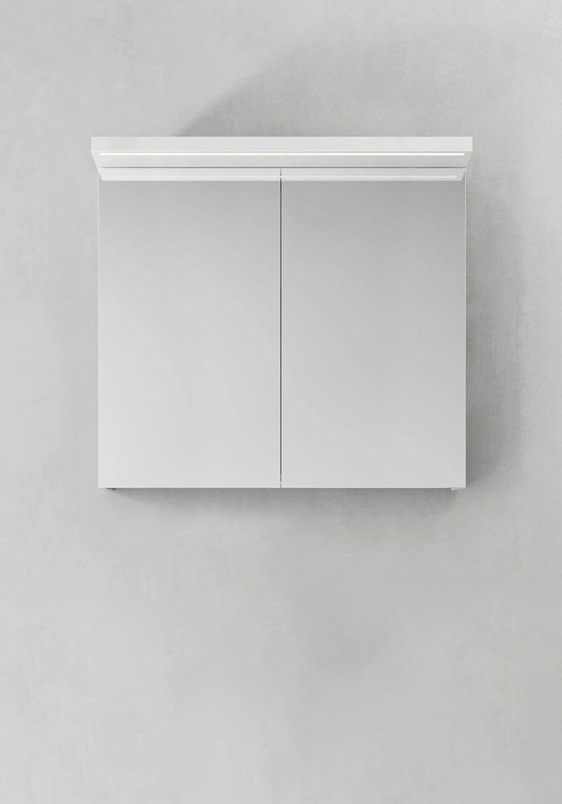 Hafa Spegelskåp Store Ledprofil Vit 800