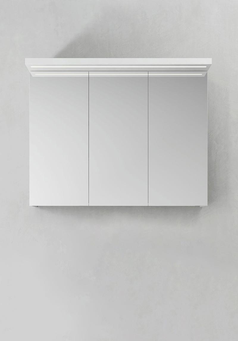 Hafa Spegelskåp Store Ledprofil Vit 900