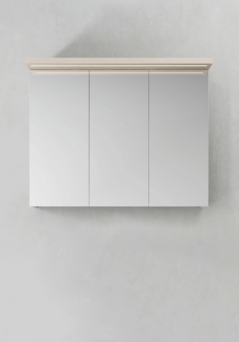 Hafa Spegelskåp Store Ledprofil Askmönster 900