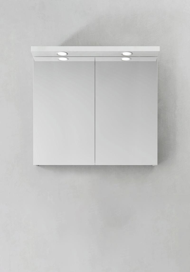 Hafa Spegelskåp Store Ledspots Vit 800