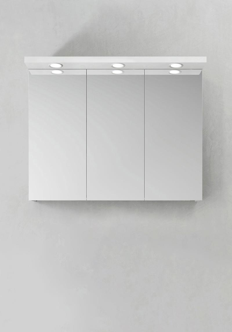 Hafa Spegelskåp Store Ledspots Vit 900