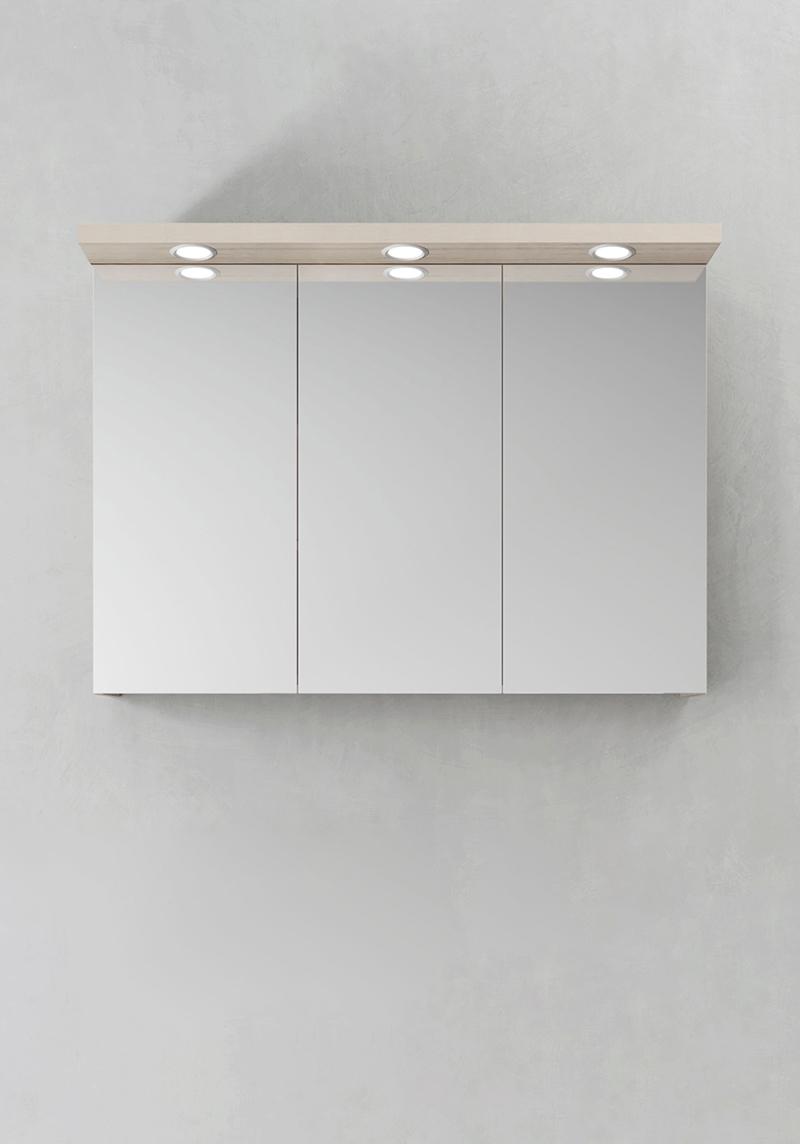 Hafa Spegelskåp Store Ledspots Askmönster 1000