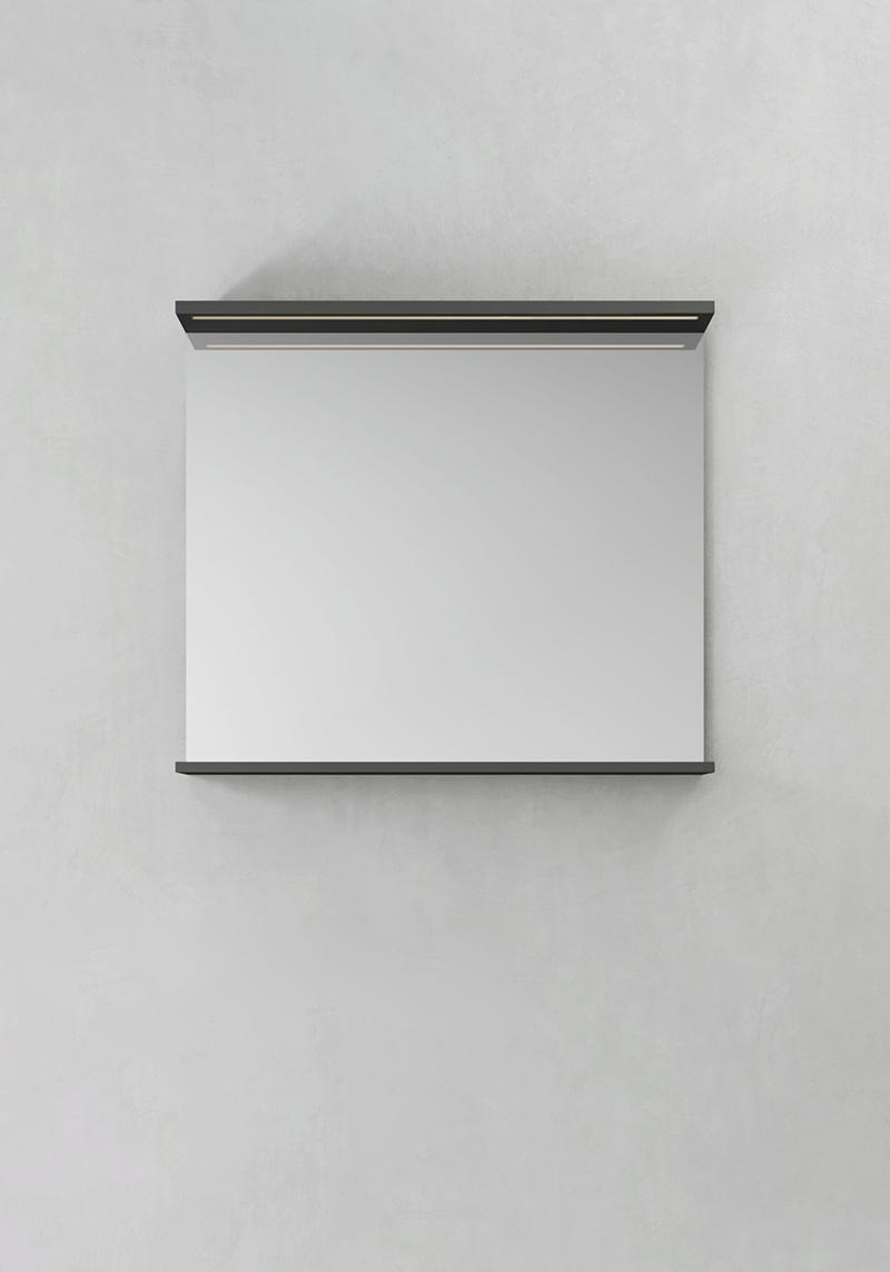 Hafa Spegel Store Ledprofil Antracit 800