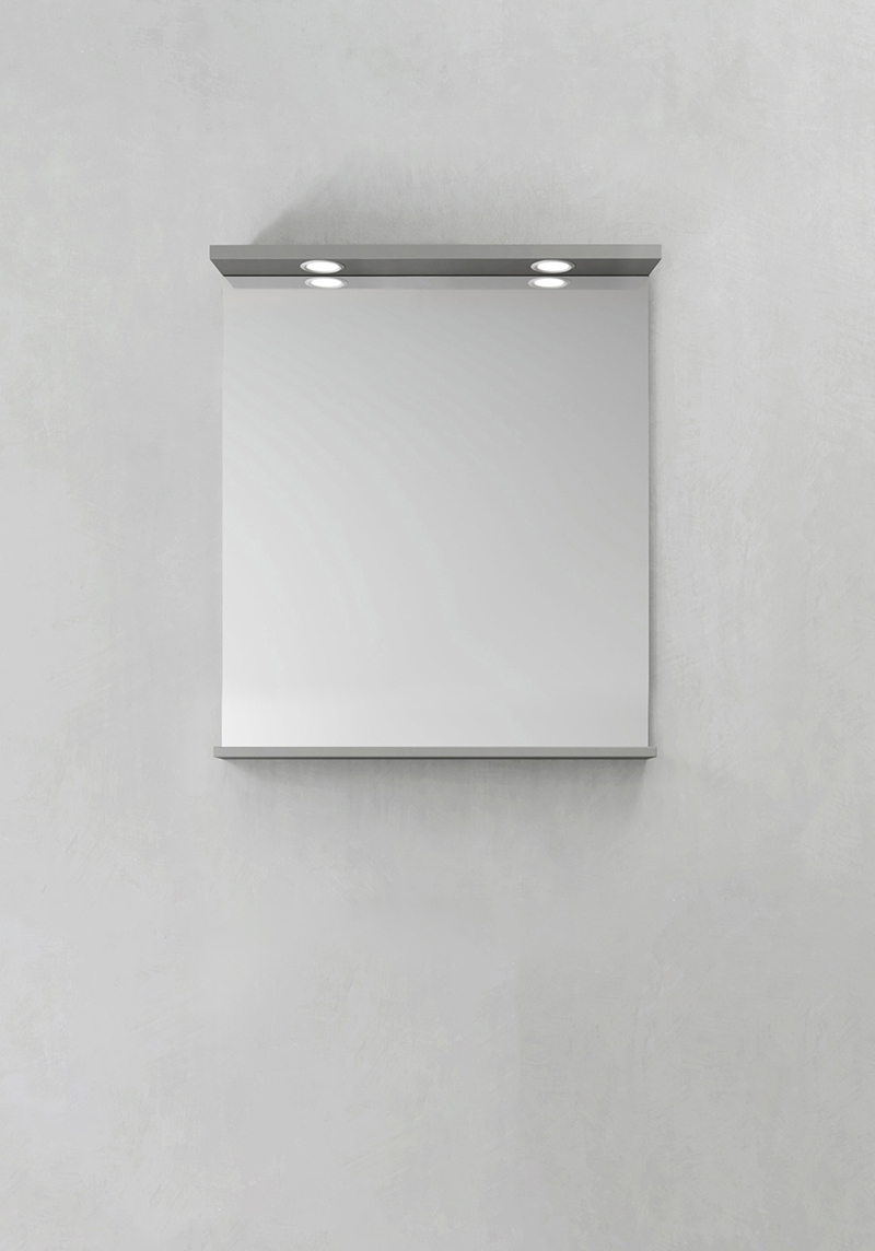 Hafa Spegel Store Ledspots Grå 600