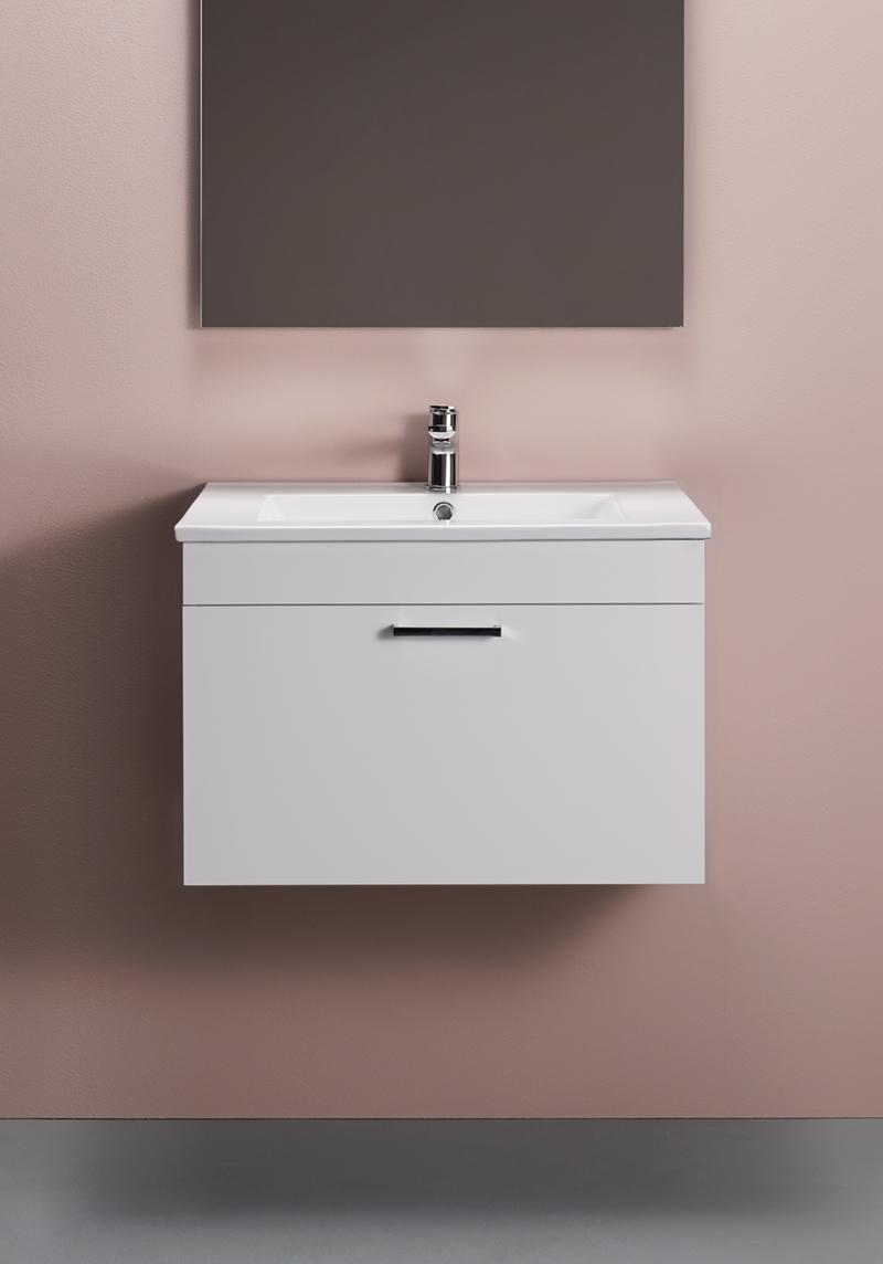 Hafa Go Compact Tvättställsskåp 600 Vit Högblank
