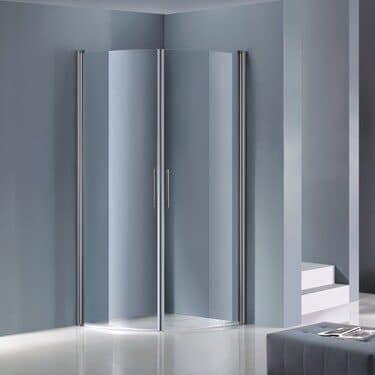 Duschväggar Opal Svängda Klarglas