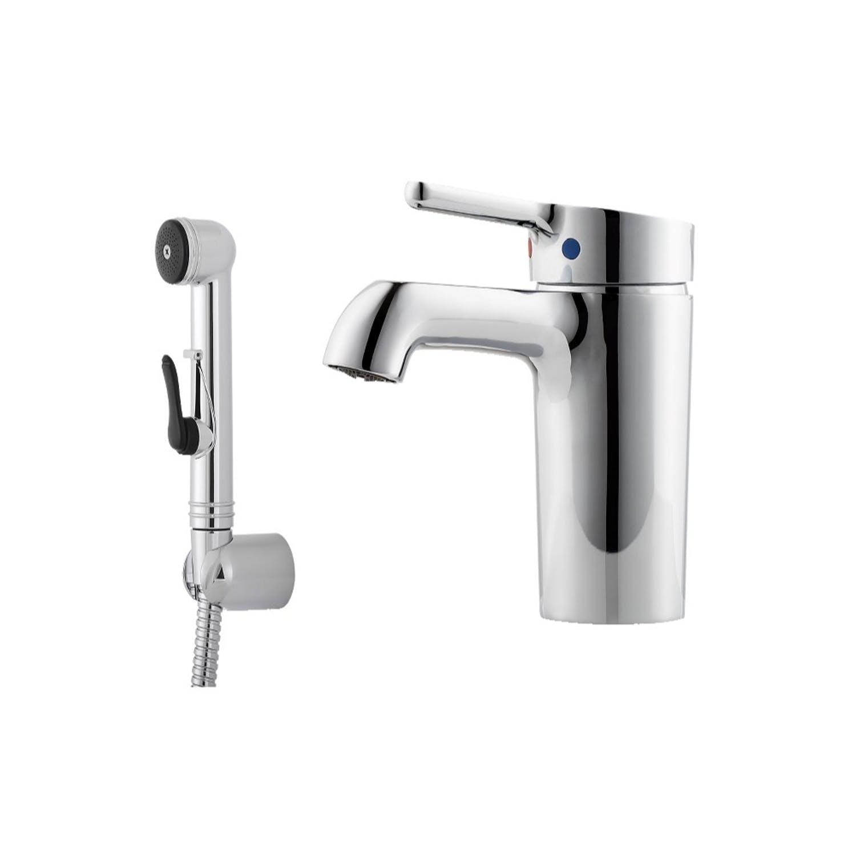 Mora One tvättställsblandare med Sidohanddusch Standard