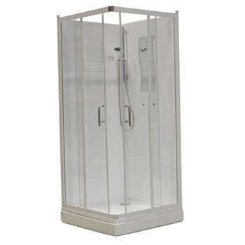 Alterna Basic Duschkabin 90x90 Rak Klarglas