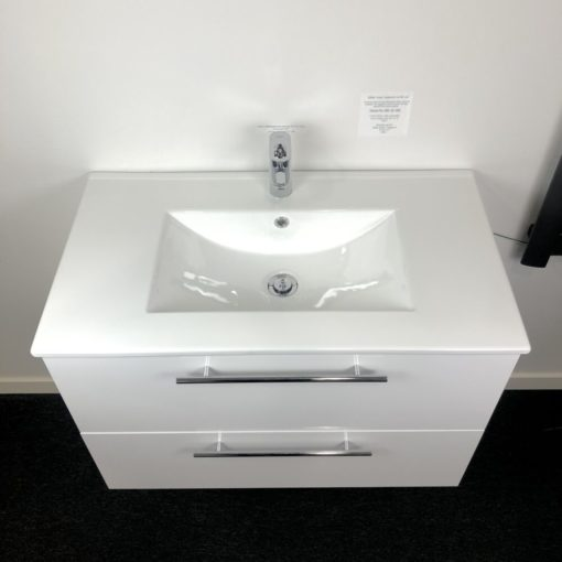 Vit tvättställskommod 80 cm QBad Visby