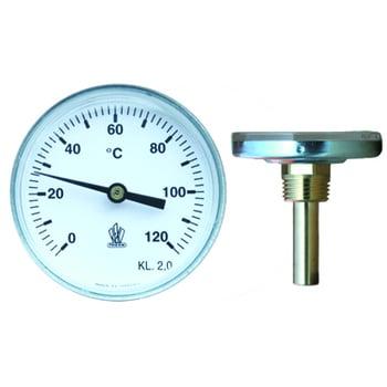 Termometer Instickstermometer med dykrör 0+120