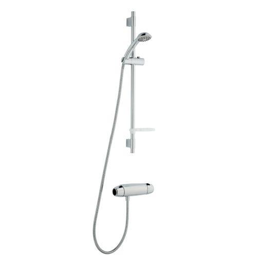 FM Mattsson 9000E Duschpaket 40 c/c Blandare + duschset Inlopp ned