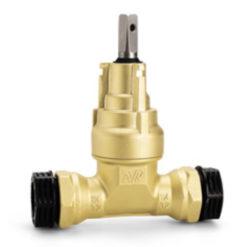 Servisventil av mässing med dragast PRK-koppling 25 mm