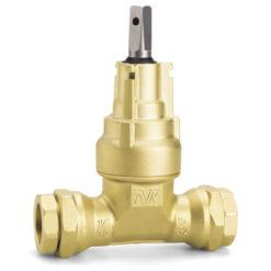 Servisventil 40 mm Mässing med AVK-topp och dragfasta skruvkopplingar