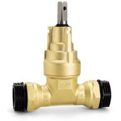Servisventil 16/25 med PRK-koppling och NBR-kil 50 mm