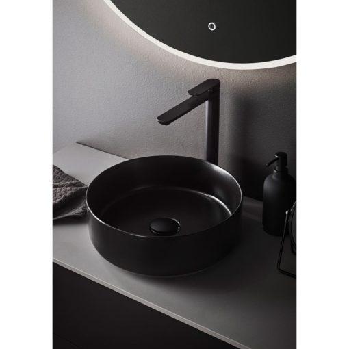 svart tvättställ circle