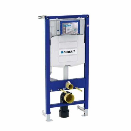 Fixtur för Vägghängd WC Geberit Duofix Element, 112 cm, Med Sigma Inbyggnadscistern 12 cm, PEX-anslutning