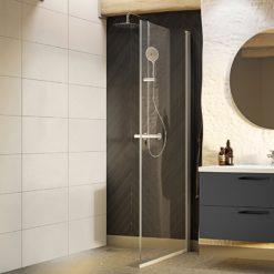 duschdörr nejd rak 80 klarglas matt aluminium