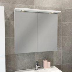 spegelskåp vit 80 qbad