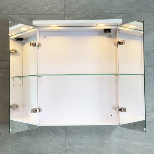 Spegelskåp vit 60 qbad
