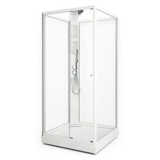 Duschkabin Macro Design Flow Klarglas Front Lux