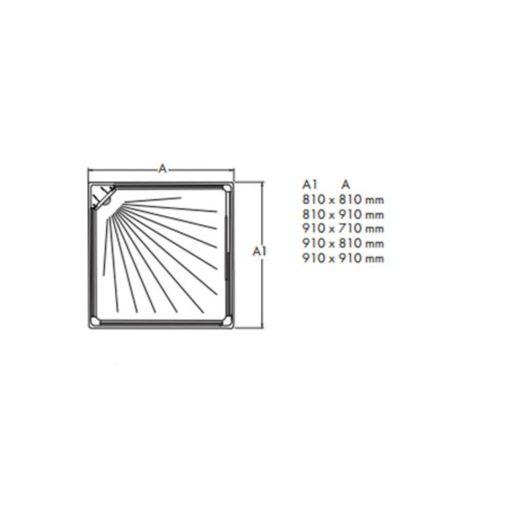 Duschkabin Macro Design Flow Klarglas Front Exclusive