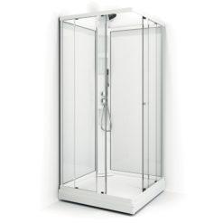 Duschkabin Macro Design Flow Klarglas Rak Lux