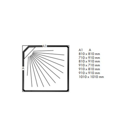 Duschkabin Macro Design Flow Klarglas Rak