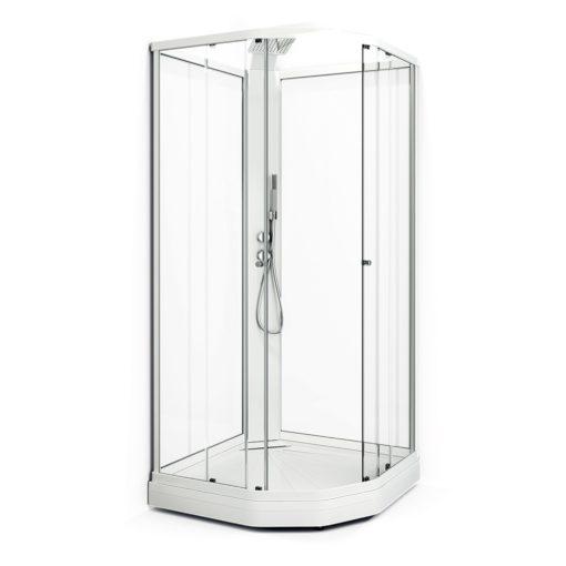 Duschkabin Macro Design Flow Klarglas Semi Exclusive