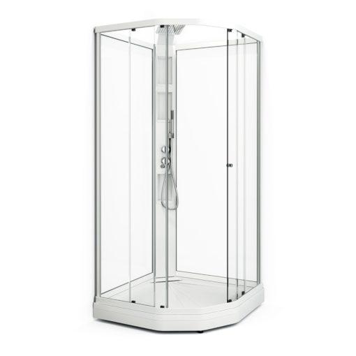 Duschkabin Macro Design Flow Klarglas Semi Lux