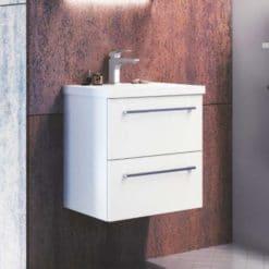 Tvättställsskåp Kame Duet Vit 50 cm