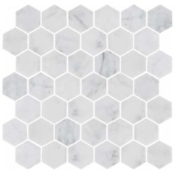 Bricmate Marmormosaik U Hexagon Medium Carrara Honed 50x50