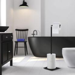 Toalettpappershållare Fristående Svart Smedbo Outline Lite
