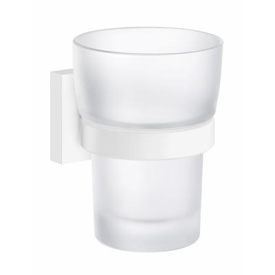 Tandborstglas Och Hållare Frostat/Matt Vit Smedbo House