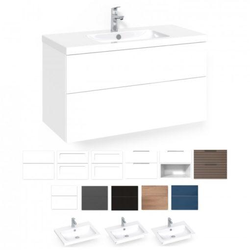 Tvättställsskåp Macro Design Crown 100 cm Lådfront Stripe