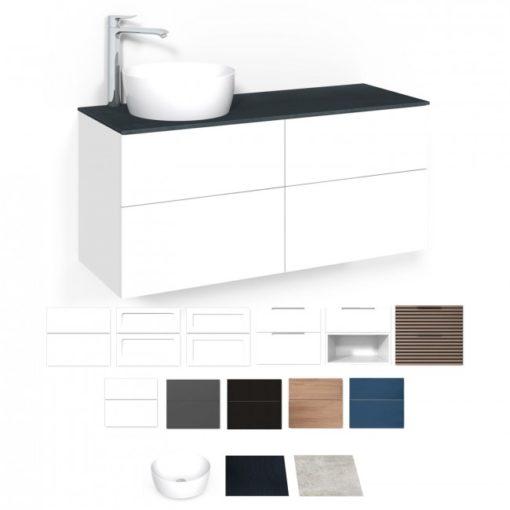 Tvättställsskåp Macro Design Crown 120 cm Lådfront Frame