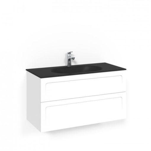 Tvättställsskåp Macro Design Crown 100 cm Lådfront Shape